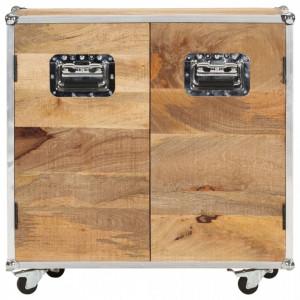 Servantă cu 2 uși, 70 x 30 x 69 cm, lemn masiv de mango