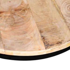 Set măsuțe cafea rotunde, lemn mango rugos, 2 buc, 40 cm/50 cm