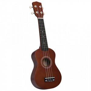"""Set ukulele soprano, cu husă, pentru copii, 21"""", lemn"""