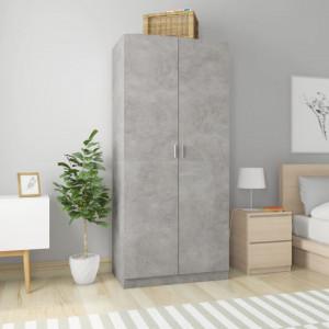 Șifonier, gri beton, 90 x 52 x 200 cm, PAL
