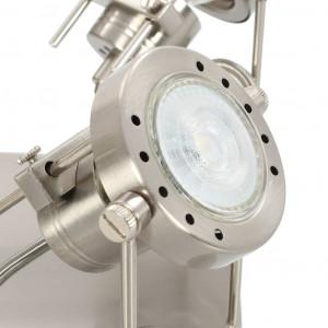 Spot luminos cu 4 direcții, argintiu, GU10