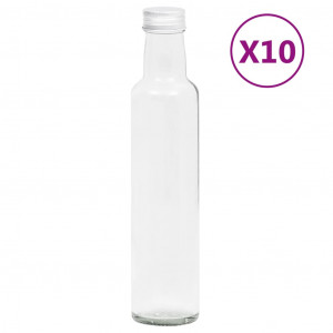 Sticle mici, capace cu filet, 10 buc., 260 ml