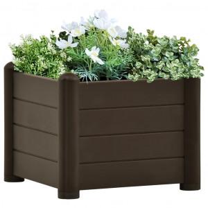 Strat înălțat de grădină, cafeniu, 43x43x35 cm, PP
