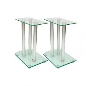 Suport pentru boxe, Sticlă securizată transparentă (2 buc.)