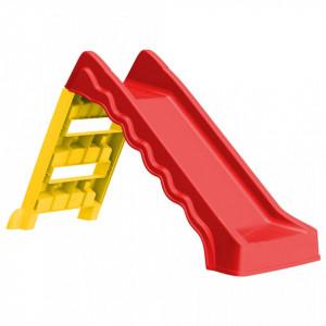 Tobogan pliabil pentru copii de interior & exterior roșu/galben