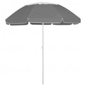 Umbrelă de plajă, antracit, 300 cm