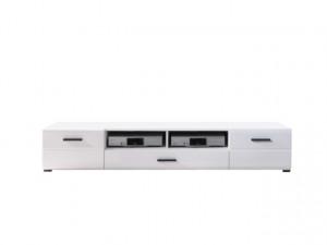 VUSHER 002-3 TV STAND 2D1S WHITE/WHITE HIGH GLOSS