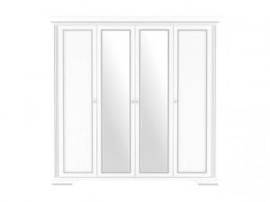 White 014 Dulap 4D(2S) Snowy Ash/Silver Pine