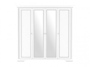 WHITE 014 WARDROBE 4D(2S) SNOWY ASH/SILVER PINE