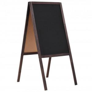 Tablă neagră cu două fețe, lemn de cedru, verticală, 40x60 cm