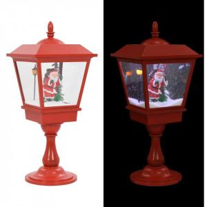 Lampă cu moș Crăciun cu piedestal, LED, 64 cm