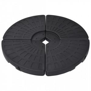 Suport de umbrelă în formă de evantai, 4 buc., negru