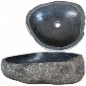 Chiuvetă din piatră de râu, 46-52 cm, oval