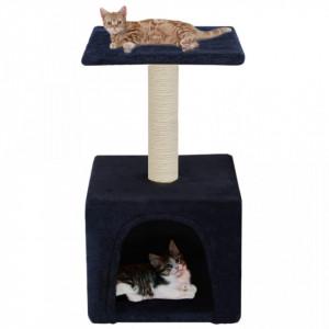 Ansamblu pisici, stâlpi din funie sisal, 55 cm, albastru închis