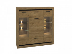 Baltica 04/S (Comoda) Oak Lefkas/Black