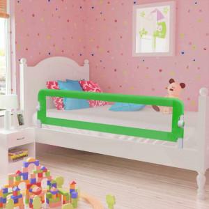 Balustradă de pat protecție copii, 2 buc., verde, 150 x 42 cm