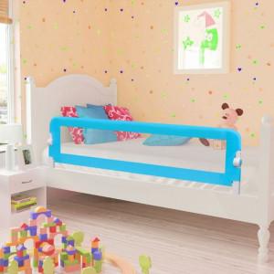 Balustradă de siguranță pentru pat copil, albastru, 150x42 cm