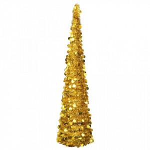 Brad de Crăciun artificial tip pop-up, auriu, 180 cm, PET