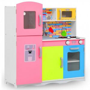 Bucătărie de jucărie pentru copii, multicolor, 80x30x85 cm, MDF