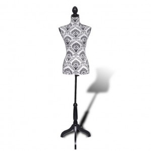 Bust croitorie feminin Negru cu alb