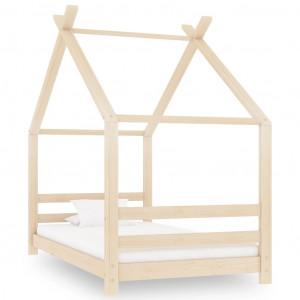 Cadru de pat pentru copii, 80 x 160 cm, lemn masiv de pin