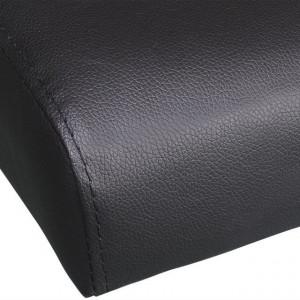 Canapea extensibilă 2 perne, piele artificială, reglabilă negru