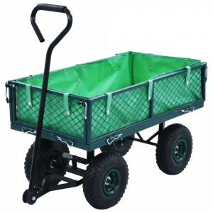 Cărucior manual de grădină, verde, 250 kg