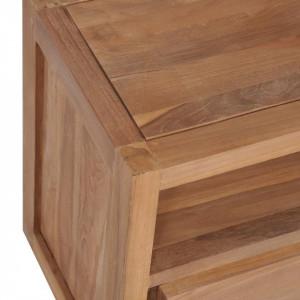Comodă TV, 120 x 30 x 40 cm, lemn de tec cu finisaj natural