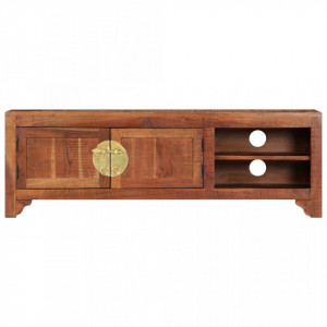 Comodă TV, 120 x 30 x 40 cm, lemn masiv de acacia