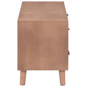 Comodă TV cu 5 sertare, 90x30x40 cm, lemn masiv pin