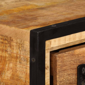 Comodă TV cu sertare, 120 x 30 x 40 cm, lemn masiv de mango