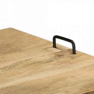 Comodă TV din lemn masiv de mango, 110 x 35 x 45 cm
