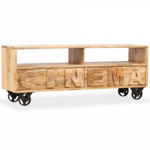 Comodă TV, lemn masiv de mango, 120 x 30 x 48 cm