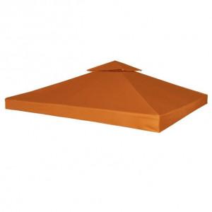 Copertină de rezervă acoperiș foișor cărămiziu 3x3 m 310 g/m²