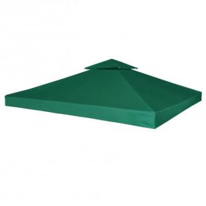 Copertină de rezervă acoperiș foișor, verde, 3x3 m, 310 g/m²