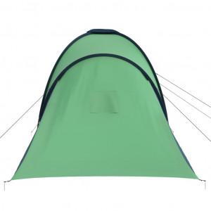 Cort camping, 6 persoane, albastru și verde