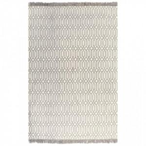 Covor Kilim, gri taupe, 120 x 180 cm, bumbac, cu model