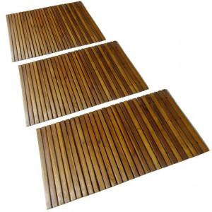 Covor pentru baie din lemn de salcâm 80 x 50 cm, 3 buc.