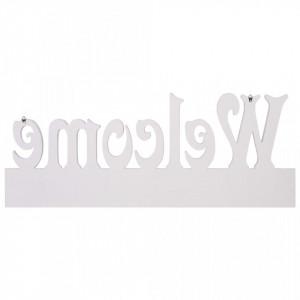 Cuier de perete WELCOME, alb, 74 x 29,5 cm
