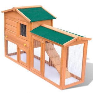 Cușcă de exterior pentru iepuri cușcă adăpost animale mici, lemn