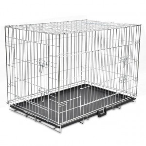 Cușcă pentru câini pliabilă, metal, XL