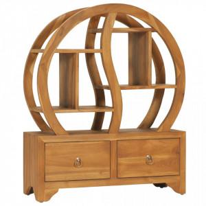 Dulap cu raft Yin Yang, 68 x 26 x 83 cm, lemn masiv de tec