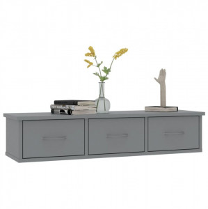 Dulap de perete cu sertare, gri, 90x26x18,5 cm, PAL