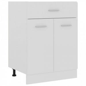 Dulap inferior cu sertar, alb, 60 x 46 x 81,5 cm, PAL