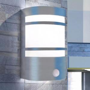 Felinar de perete pentru exterior cu senzor, oțel inoxidabil