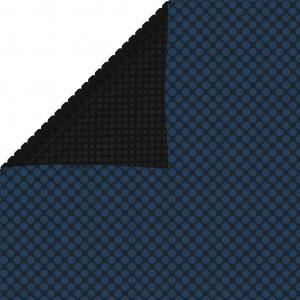Folie solară plutitoare piscină, negru/albastru, 1000x500 cm PE