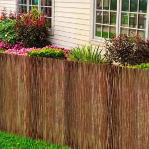 Gard din salcie pentru grădină 300 x 100 cm