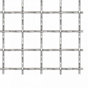 Gard sârmă sertizată, 100x85 cm, 21x21x2,5 mm, oțel inoxidabil