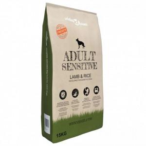 Hrană câini uscată Premium, miel & orez adulți sensibili, 15 kg