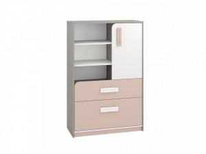 Iq 07 (Comoda) Grey Platinum/White/Bright Pink
